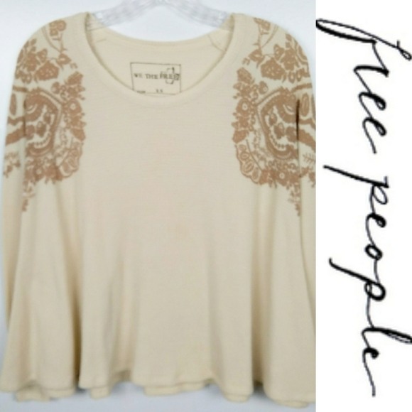 WE THE FREE PEOPLE Women Thermal Shirt long sleeve